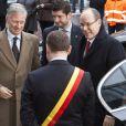 """Albert II de Monaco prenait part avec le prince héritier Philippe de Belgique, le 31 janvier 2013 à Namur, au 1er Congrès interdisciplinaire du Développement Durable - """" Quelle transition pour nos sociétés ? """"."""