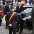 """Le prince Albert II de Monaco prenait part avec le prince héritier Philippe de Belgique, le 31 janvier 2013 à Namur, au 1er Congrès interdisciplinaire du Développement Durable - """" Quelle transition pour nos sociétés ? """"."""