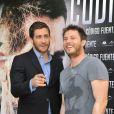 Jake Gyllenhaal et Duncan Jones pendant le photocall de Source Code à Madrid, le 5 avril 2011.