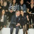 Mary de Danemark au front row d'un défilé au Salon international de la Mode de Copenhague (CIFF), dont elle est la marraine, le 1er février 2013.