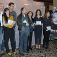 L'équipe du film Camille Redouble lors du déjeuner des nommés aux César, le 2 février au Fouquet's à Paris