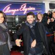 Patrick Bruel et Shy'm lors de l'enregistrement de l'émission  Champs Élysées  au studio Gabriel à Paris le 7 février 2013.
