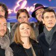 Marc Lavoine, Calogero, Elsa Fourlon, Karen Bruno et Philippe Uminski  arrivent à l'enregistrement de l'émission  Champs Élysées  au studio Gabriel à Paris le 7 février 2013.