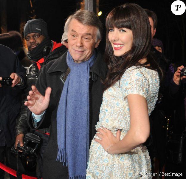 Nolwenn Leroy et Salvatore Adamo arrivent à l'enregistrement de l'émission Champs Élysées au studio Gabriel à Paris le 7 février 2013.