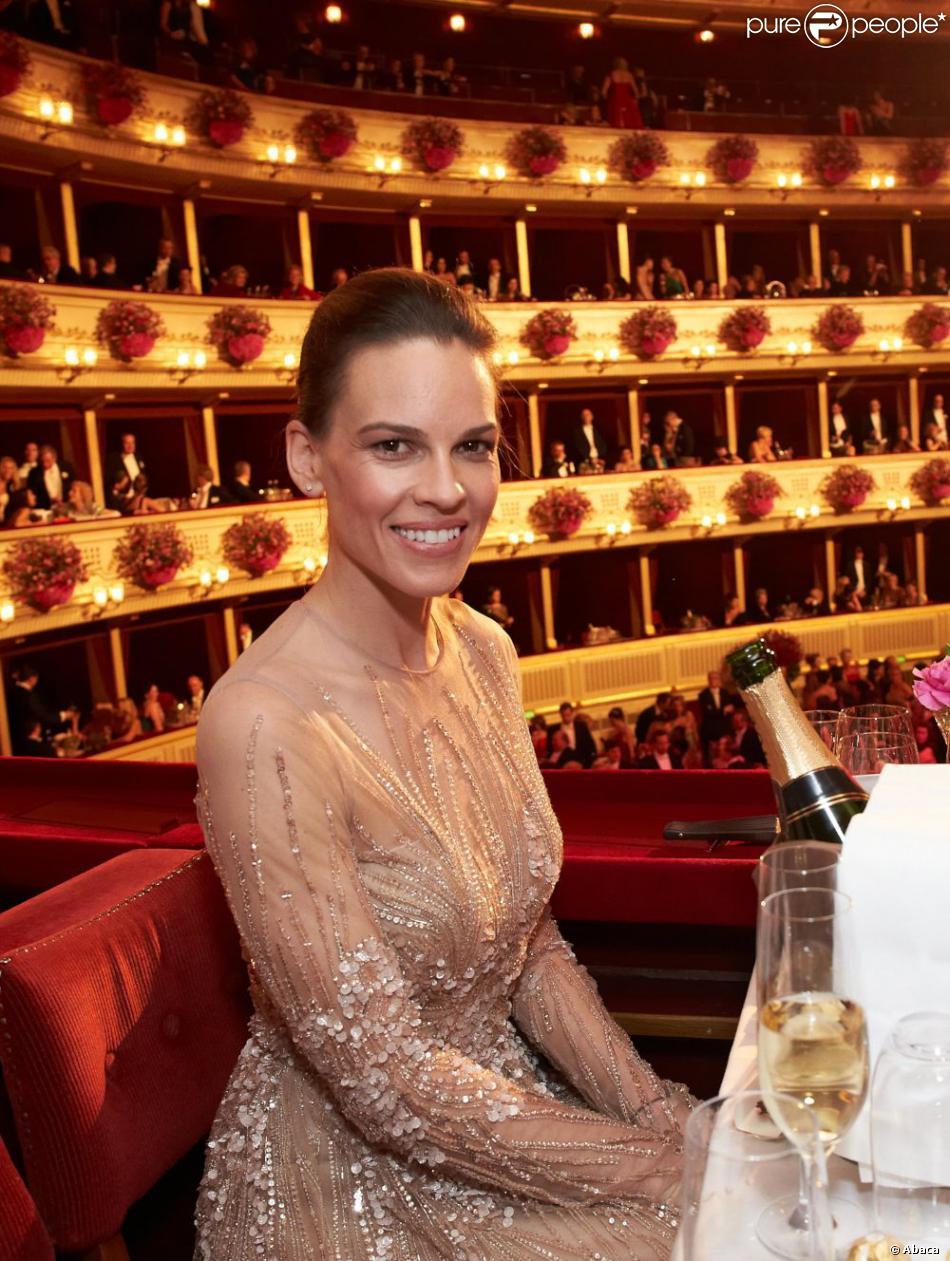 Hilary Swank à la 57e édition du Bal de l'Opéra à Vienne, le 7 février 2013.