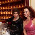 Gina Lollobrigida et Christina Lugner à la 57e édition du Bal de l'Opéra à Vienne, le 7 février 2013.