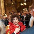 Gina Lollobrigida à la 57e édition du Bal de l'Opéra à Vienne, le 7 février 2013.