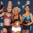 Les Lady Marmelade Pink, Christina Aguilera et Mya lors des 44e Grammy Awards en 2002.