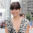 La belle Jamie-Lynn Sigler arrive à la fashion week pour le défilé de Tracy Resse, à New York, le 11 septembre 2011.