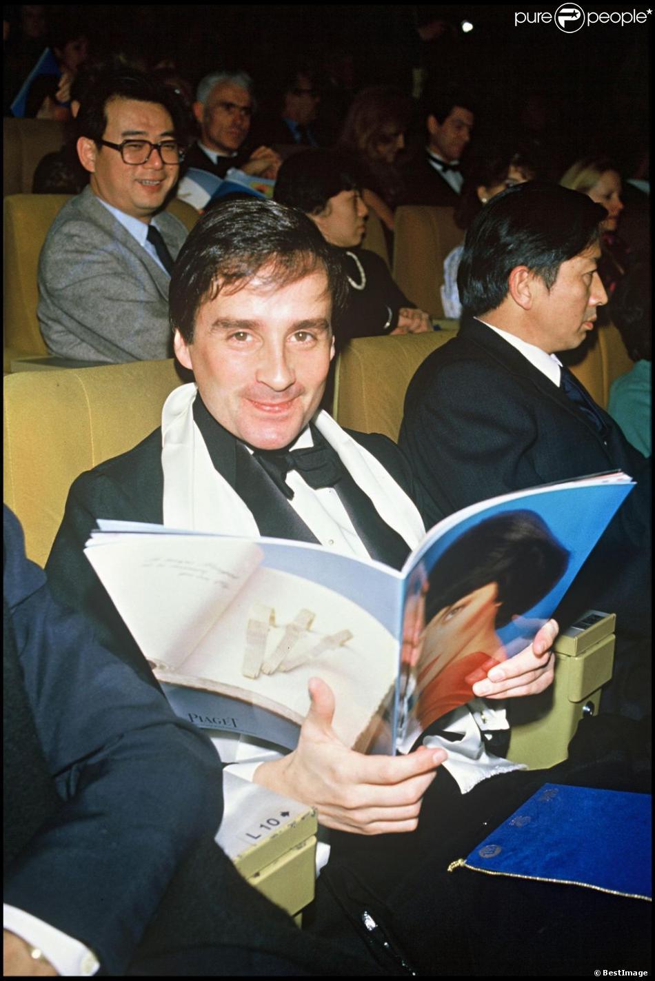 Thierry Le Luron à Paris le 14 janvier 1986.