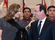 Valérie Trierweiler et le président: Regards amoureux lors d'un magnifique dîner