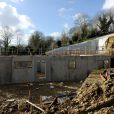 Les travaux de la nouvelle villa de Gérard Depardieu à Trouville, le 2 fevrier 2013.