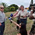 Michael Steenkamp, l'oncle de Reeva Steenkamp à Port Elizabeth, le 15 février 2013.