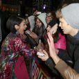 Vanessa Hudgens avec ses fans à la première de Spring Breakers à Berlin, le 19 février 2013.