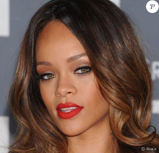 Rihanna lors des Grammy Awards au Staples Center. Los Angeles, le 10 février 2013.