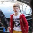 David et Victoria Beckham ont emmené leurs quatre enfants, Brooklyn, Romeo, Cruz et Harper au Royal Monceau pour fêter les 8 ans du petit Cruz le 20 février 2013 à Paris