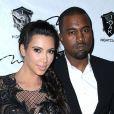 Kim Kardashian et Kanye West lors du Nouvel An dans la boîte de nuit 1OAK. Las Vegas, le 31 décembre 2012.