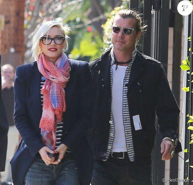 Gwen Stefani et son mari Gavin Rossdale se promènent dans les rues de West Hollywood, le 21 février 2013.