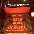 Soirée d'anniversaire des 20 ans de Gala, à l'Olympia, à Paris, le 25 février 2013