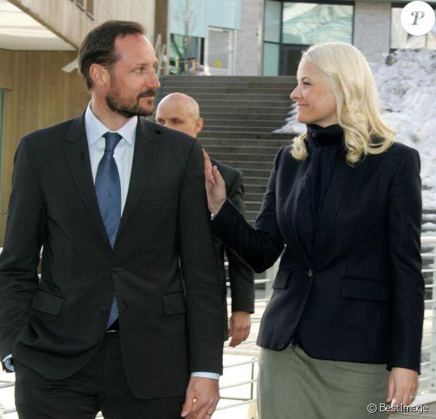 La princesse Mette-Marit de Norvège participait avec son mari le prince Haakon à la VelFERDkonferansen 2013, à Oslo, le 25 février 2013.