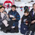 La princesse Marie de Danemark en famille à Villars-sur-Ollon lors des vacances d'hiver, le 13 février 2013.