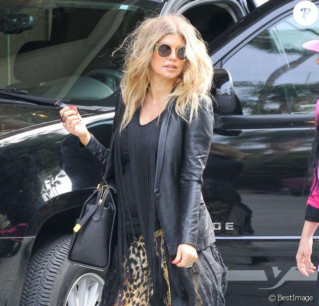 Fergie, enceinte, dans les rues de Beverly Hills, le 6 mars 2013.