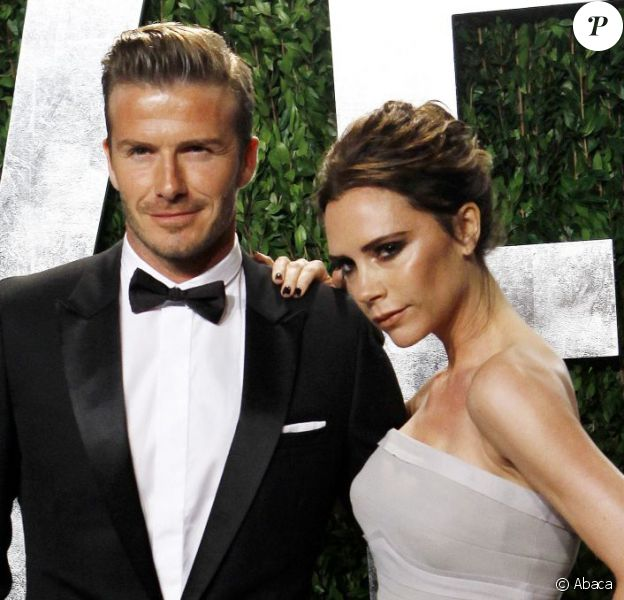 David Beckham et Victoria Beckham à Los Angeles, le 26 février 2013.