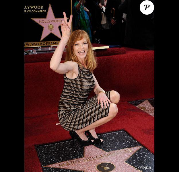 Marg Helgenberger tout sourire reçoit son étoile à Los Angeles, le 23 janvier 2012