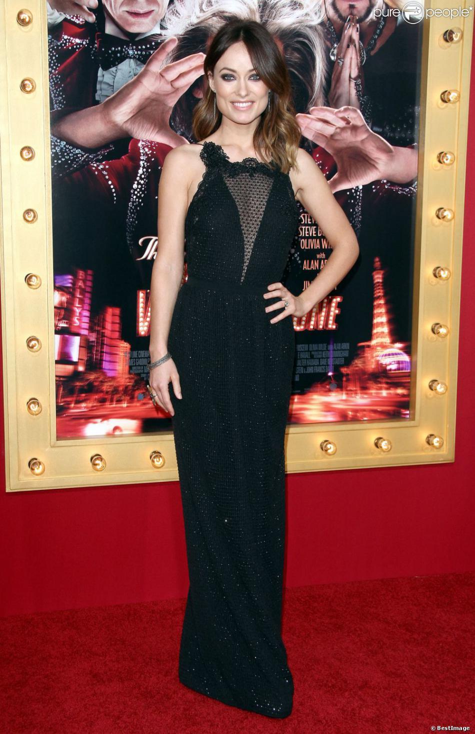 Olivia Wilde des plus ravissantes pour la première du film The Incredible Burt Wonderstone au TCL Chinese Theatre à Hollywood, le 11 mars 2013.