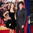 David Copperfield et sa sublime compagne Chloé Gosselin posent à la première du film The Incredible Burt Wonderstone au TCL Chinese Theatre à Hollywood, le 11 mars 2013.