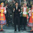 Exclusif - Le chanteur Vincent Niclo en concert, du 8 au 10 mars, avec les choeurs de l'Armée Rouge au Palais des Congrés à Paris, le 8 mars 2013.