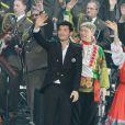 Exclusif - Le sexy Vincent Niclo en concert, du 8 au 10 mars, avec les choeurs de l'Armée Rouge au Palais des Congrés à Paris, le 8 mars 2013.