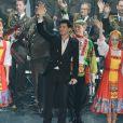 Exclusif - Vincent Niclo en concert, du 8 au 10 mars, avec les choeurs de l'Armee Rouge au Palais des Congres a Paris. Le 8 mars 2013