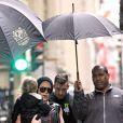 Pink en compagnie de sa fille Willow et de son mari Carey Hart dans les rues de Montréal, au Québec, le 12 mars 2013.