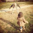 Pink a posté une photo avec sa fille Willow sur Twitter, le 13 mars 2013.