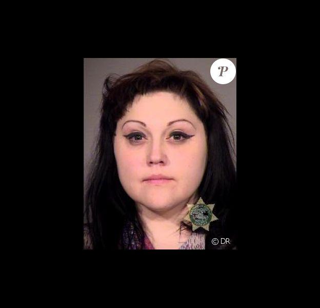 Portrait de police de Beth Ditto (shérif du comté de Multnomah) arrêtée dans la nuit du 15 au 16 mars 2013 à Portland.