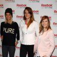 Alexandra Rosenfeld, Laure Manaudou et Louise Ekland lors d'un événement organisé par Reebok au Pure Club Med Gym de Bastille à Paris le 19 mars 2013