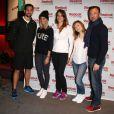Brice Martinet (Koh Lanta 12), Alexandra Rosenfeld, Laure Manaudou, Louise Ekland et Alexandre Devoise lors d'unévénement organisé par Reebok au Pure Club Med Gym de Bastille à Paris le 19 mars 2013