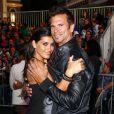 Lorenzo Lamas avec sa cinquième femme Shawna Craig à Anaheim en Californie le 7 mai 2011.