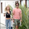 Lorenzo Lamas et son ex-femme Shauna Sand à Malibu, le 7 juin 2006.