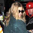 Fergie, enceinte, en visite à New York, le 21 mars 2013.
