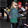 Fergie, enceinte, à New York, le 21 mars 2013.