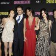 Vanessa Hudgens, Ashley Benson, James Franco, Selena Gomez et Rachel Korine à la première du film Spring Breakers à Hollywood, le 14 mars 2013.