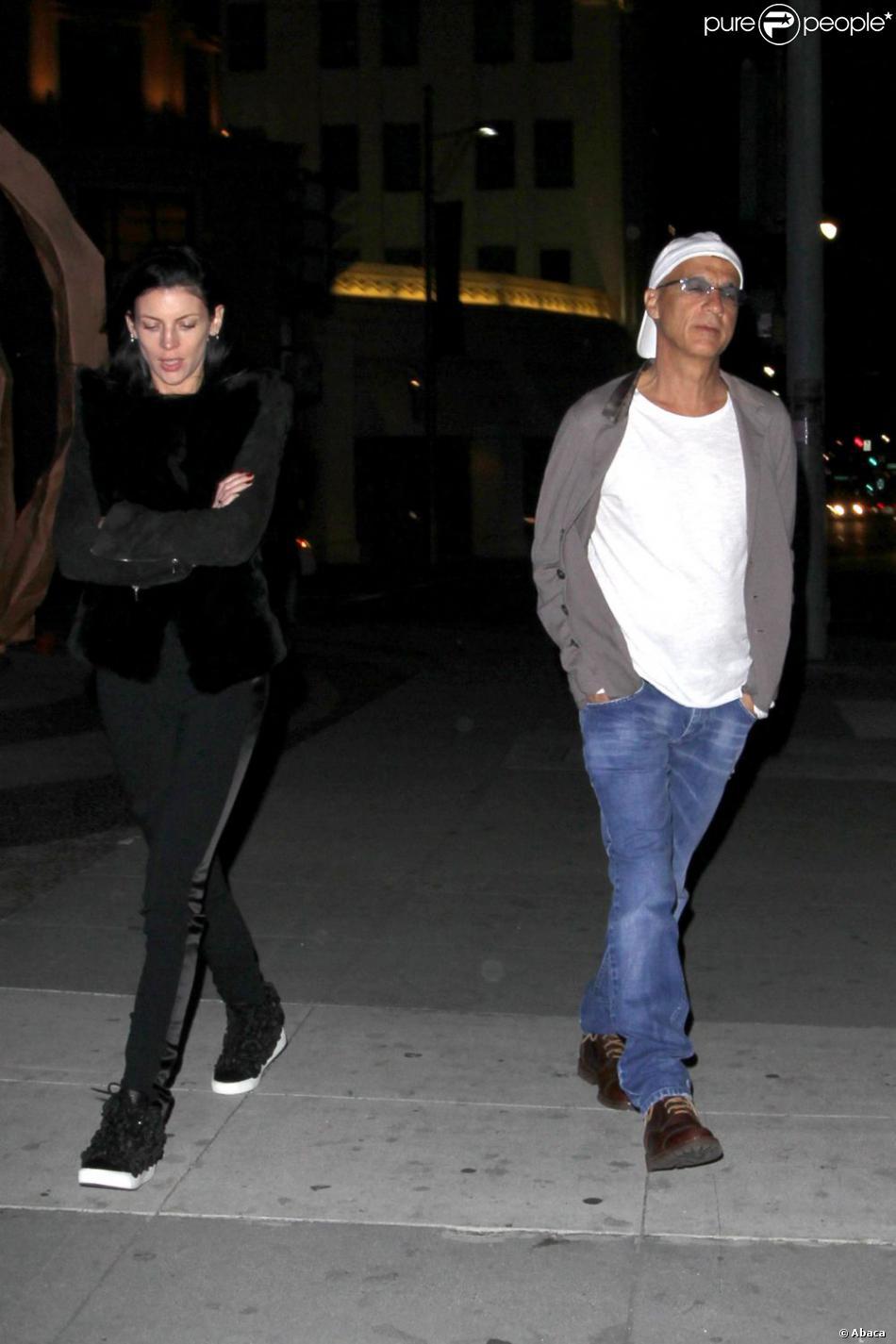 Liberty Ross et son nouveau compagnon Jimmy Iovine après un dîner romantique à Beverly Hills. Le 23 mars 2013.