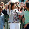 Michelle Obama et ses filles pour la traditionnelle chasse aux oeufs de la Maison Blanche, le 1er avril 2013.