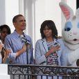 La chanteuse Jessica Sanchez interprète l'hymne américain pour la traditionnelle chasse aux oeufs de la Maison Blanche, le 1er avril 2013.