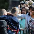 Michelle Obama pour la traditionnelle chasse aux oeufs de la Maison Blanche, le 1er avril 2013.