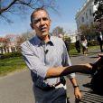 Barack Obama pour la traditionnelle chasse aux oeufs de la Maison Blanche, le 1er avril 2013.
