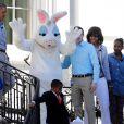 Barack Obama en famille pour la traditionnelle chasse aux oeufs de la Maison Blanche, le 1er avril 2013.
