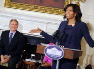 Michelle Obama : Rayonnante et ravissante pour Harrison Ford, ce héros !